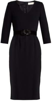 Goat Gilda Wool Crepe Dress - Womens - Navy