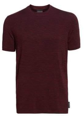 Emporio Armani Stripe Crewneck T-Shirt