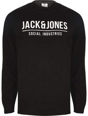 River Island Jack and Jones Core black print sweatshirt