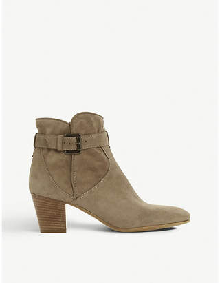 Dune Black Portsmouth suede ankle boots