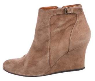 Lanvin Suede Wedge Boots