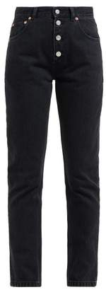 Balenciaga Tube High Rise Straight Leg Jeans - Womens - Black