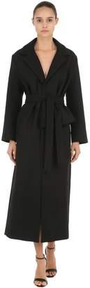 Jacquemus Long Draped Wool Cloth Coat