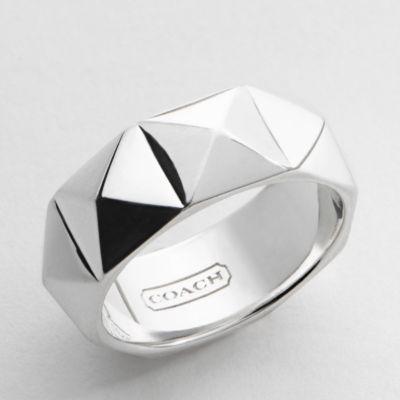 Pyramid Stud Band Ring