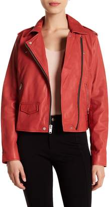 Andrew Marc Whitney Leather Moto Jacket