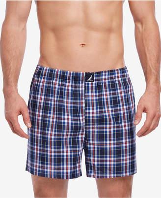 Nautica Men's Printed Woven Cotton Boxers