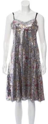 Thakoon Sequined Sleeveless Mini Dress