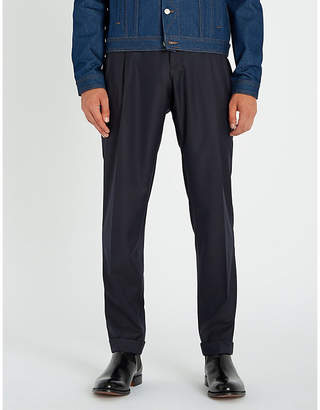 Tiger of Sweden Trolosa regular-fit tapered herringbone wool trousers