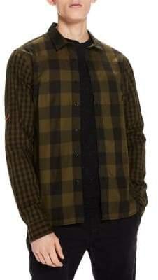 Scotch & Soda Cotton Check Button-Down Shirt