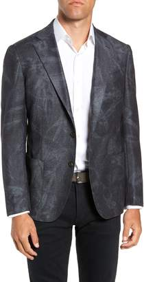 Culturata Trim Fit Washed Wool Sport Coat