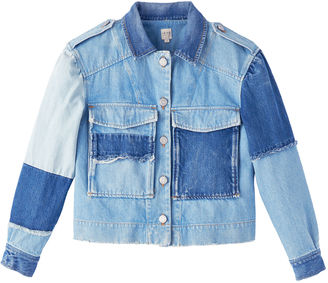 Rebecca Taylor La Vie Patched Denim Jacket