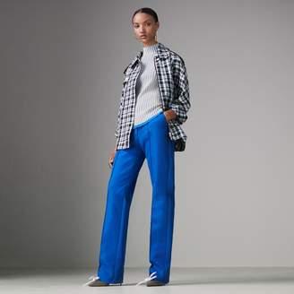 Burberry Sleeveless Rib Knit Cashmere Silk Turtleneck Sweater