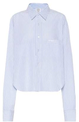 Vetements Striped cotton shirt