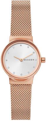 Skagen Women Freja Rose Gold-Tone Stainless Steel Bracelet Watch 26mm