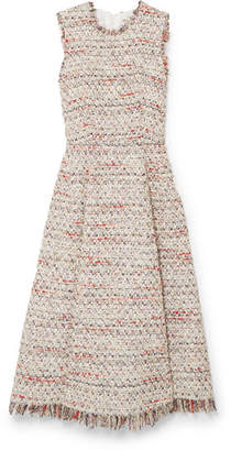 ADAM by Adam Lippes Frayed Tweed Midi Dress - Ivory