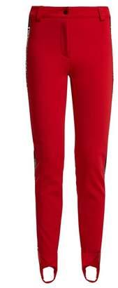 Fendi High Rise Stirrup Hem Ski Trousers - Womens - Red