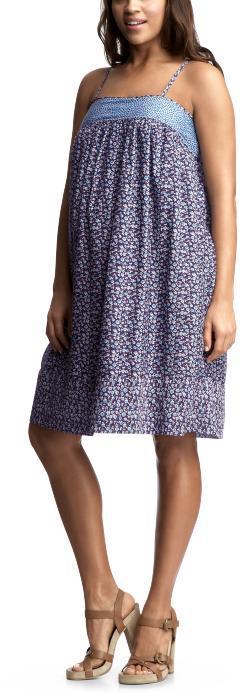 Smocked floral tank dress