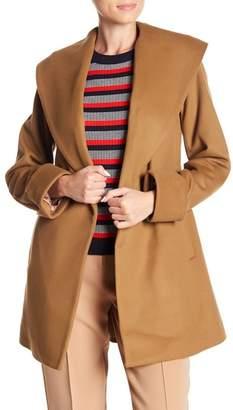 Trina Turk Ali Wool Blend Wrap Coat
