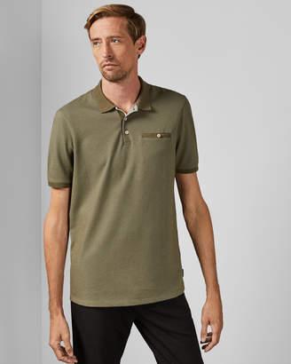 Ted Baker DYATT Tall textured cotton polo shirt
