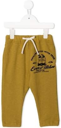 Denim Dungaree drawstring track trousers