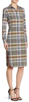 Polo Ralph Lauren Cotton Madras Shirtdress $198 thestylecure.com