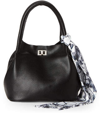 Steve Madden Bizzie Faux Leather Scarf-Accented Tote