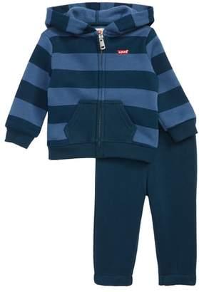 Levi's Stripe Hoodie & Pants Set