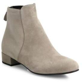 pradaPrada Suede Block-Heel Booties