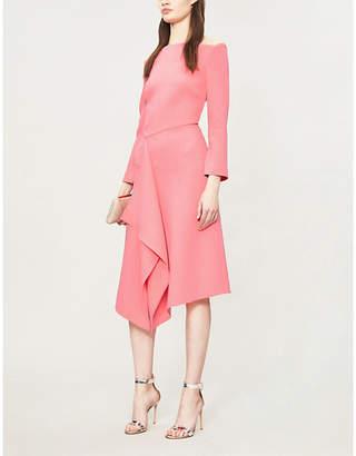 Roland Mouret Clover asymmetric wool-crepe dress