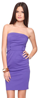 Forever 21 Strapless Ponte Dress
