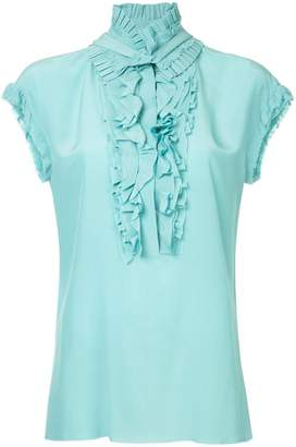 Haider Ackermann ruffle detail ruched blouse