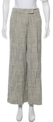Loro Piana High-Rise Wide-Leg Pants grey High-Rise Wide-Leg Pants