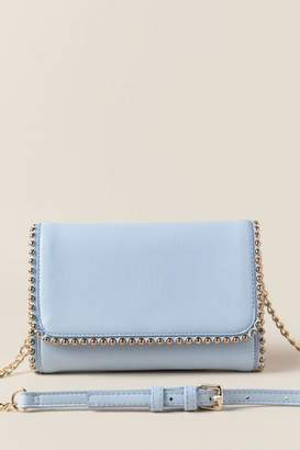 francesca's Juliet Mini Beaded Clutch Crossbody - Light Blue
