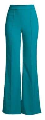 Alice + Olivia Women's Jalisa High-Waist Fitted Pants - Teal - Size 6