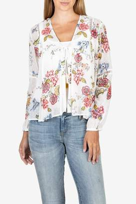 KUT from the Kloth Kut From The Cloth Becca Floral Tassel Tie Blouse