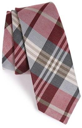 Men's The Tie Bar Plaid Silk & Linen Tie $19 thestylecure.com