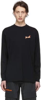 Marcelo Burlon County of Milan Black Fireball Long Sleeve T-Shirt