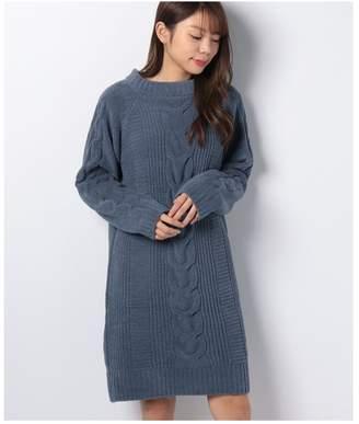 Amphi (アンフィ) - AMPHI ケーブル柄モール編み ワンピース