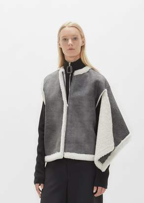 J.W.Anderson Shearling Gilet Fossil