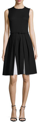 Ralph Lauren Collection Sleeveless Two-Tone Cady Dress, Black/Optic White $2,990 thestylecure.com