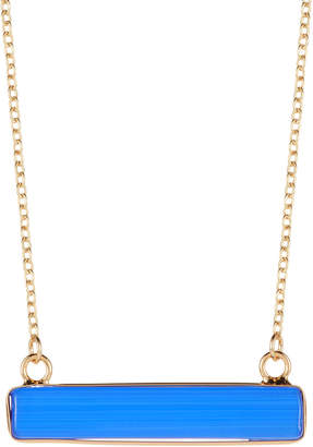 Panacea Royal Cat Eye Rectangular Pendant Necklace