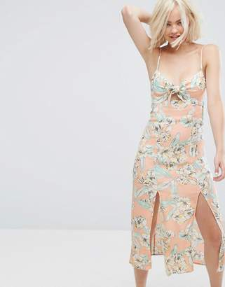 MinkPink Minkpink Palm Springs Floral Midi Dress $56 thestylecure.com