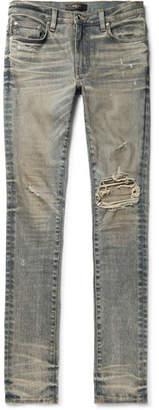 Amiri Skinny-Fit Distressed Stretch-Denim Jeans