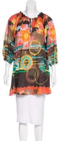 M Missoni Printed Long Sleeve Blouse