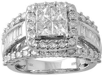 14k Gold Princess Baguette Diamond Bridal Wedding Ring Set (3cttw