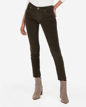 Express Mid Rise Corduroy Ankle Leggings