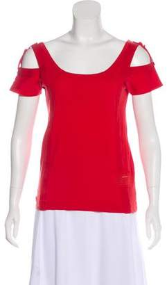 Marc by Marc Jacobs Cutout Short Sleeve Top