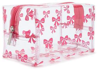 Forever 21 Transparent Bow Print Makeup Bag