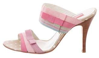Christian Lacroix Bow-Accented Printed Sandals