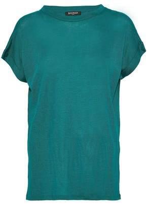 Balmain Slub Linen-Blend T-Shirt